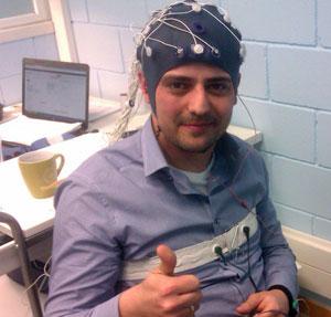 Manuel Boira haciendo de conejillo de indias en BitBrain